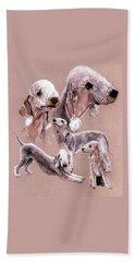 Bedlington Terrier Beach Sheet