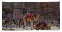 Bedouin Tribesmen, Petra Jordan Beach Towel