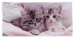 Bedtime Kitties Beach Sheet