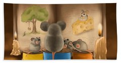 Beach Sheet featuring the painting Bedtime Story by Veronica Minozzi