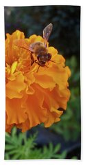 Bee And Marigold Beach Towel