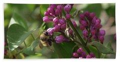 Bee At Work Beach Sheet