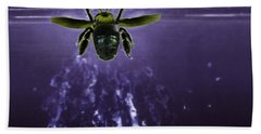Bee Drilling Wood Beach Towel