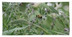 Bee In Flight Beach Sheet
