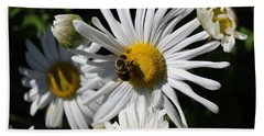Bee On Flower 1 Beach Towel