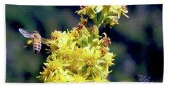 Bee On Goldenrod Beach Sheet