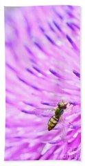 Sweat Bee On Thistle Beach Towel
