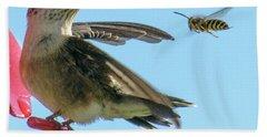 Bee_bird Beach Towel