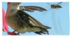 Bee_bird Beach Towel