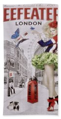 Beefeater Gin Beach Towel by Mary Machare