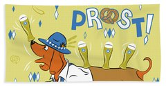 Beer Dachshund Dog Beach Sheet