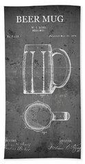 Beer Drinkers Mug Patent  1876 Beach Towel