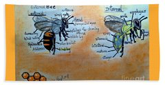 Bees  Beach Towel by Francine Heykoop