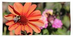 Bees-y Day Beach Towel by Jason Nicholas