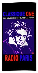 Beethoven Classique One Radio Paris  Beach Towel