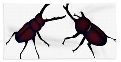 Beetle And Stag Beetle Beach Towel