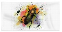 Beetle Illustration Beach Towel