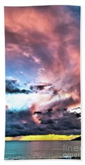Before The Storm Avila Bay Beach Towel by Vivian Krug Cotton