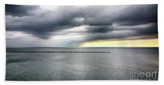 Beach Sheet featuring the photograph Before The Storm by Ricky L Jones
