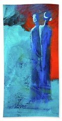 Beach Towel featuring the painting Before The Wedding by Nancy Merkle