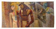 Beginnings. Gods Of Ancient Egypt Beach Towel