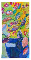 Begonias Beach Towel