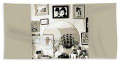 Beach Sheet featuring the photograph Behind The Barber Chair by Joe Jake Pratt
