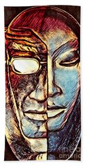 Behind The Mask Beach Towel