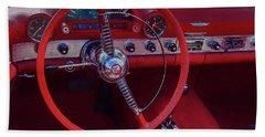 Behind The Wheel 55 Ford Thunderbird Beach Sheet