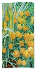 Behold, Tis The Season Of Tulip. April Is Here.   Beach Sheet by Bijan Pirnia