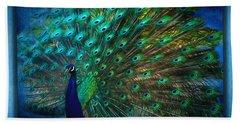Being Yourself - Peacock Art Beach Sheet