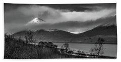 Beinn Na Cro And Loch Slapin, Isle Of Skye Beach Towel