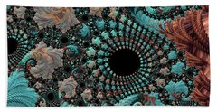 Beach Towel featuring the digital art Bejeweled Fractal by Bonnie Bruno