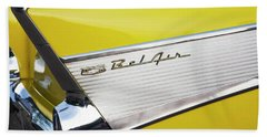 Beach Towel featuring the photograph Bel Air Tail Fin by Toni Hopper