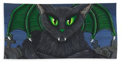 Bela Vampire Cat Beach Towel