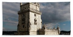 Beach Towel featuring the photograph Belem Tower In Color by Lorraine Devon Wilke