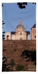 Beach Sheet featuring the photograph Belfry And Chapel Of Saint Sebastian by Michal Boubin