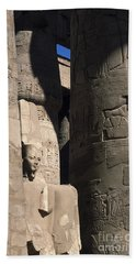 Belief In The Hereafter - Luxor Karnak Temple Beach Sheet