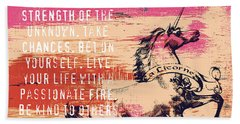 Believe In The Power Of The Unseen Beach Towel by Brandi Fitzgerald
