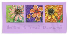 Beach Sheet featuring the painting Believe In Your Dreams by Tanielle Childers
