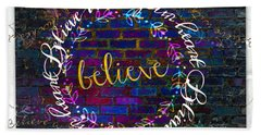 Believe With Your Heart Beach Towel