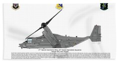 Bell Boeing Cv-22b Osprey 20sos Beach Sheet