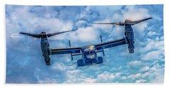 Bell Boeing V-22 Osprey  Beach Sheet by Nick Zelinsky