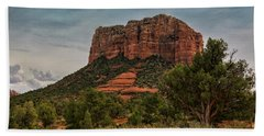 Beach Towel featuring the photograph Courthouse Butte - Sedona  by Saija Lehtonen