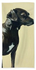Beach Towel featuring the painting Bella by Nathan Rhoads