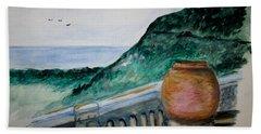Bella Vista, Cumae Italy Beach Towel by Clyde J Kell