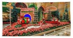 Bellagio Christmas Train Decorations Angled 2017 Beach Sheet