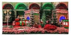 Bellagio Christmas Train Decorations Panorama 2017 Beach Towel