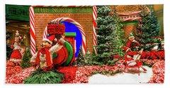 Bellagio Christmas Train North Pole Decorations 2017  Beach Towel