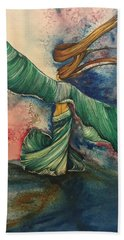 Belly Dancer With Wings  Beach Towel